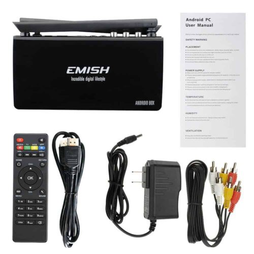 Emish X800 TV Box contents