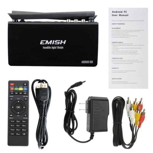 Emish X800 TV Box contents