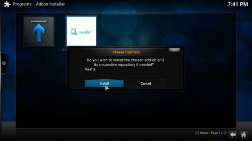 Veetle Addon for Kodi install