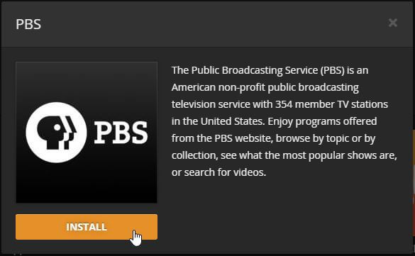 Guide: How to install Plex PBS Channel on your media server