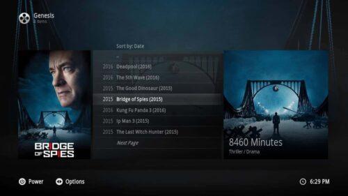 Kodi GUI 1080XF List Info