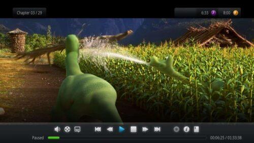 Kodi Interface plugin 1080XF playback menu