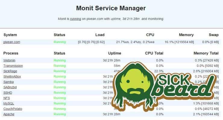 Monitor Sickbeard
