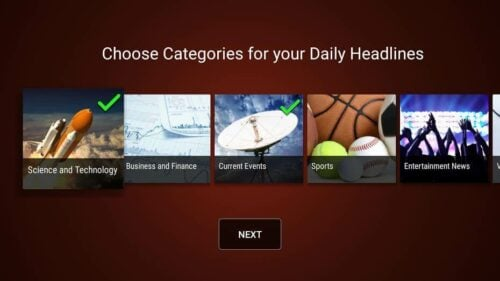 Haystack Amazon Fire TV categories