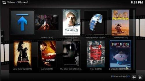 Install Kodi XMovies8 addon content