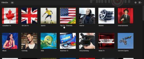 Plex FilmOn Channel content