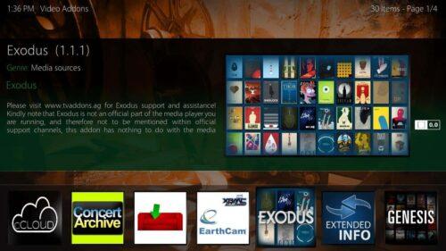 Cirrus Extended touchscreen Kodi fanart square