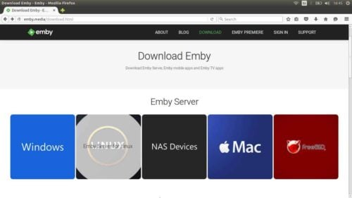 Add Emby to Ubuntu Linux