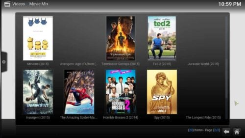 Install Kodi Movie Mix content