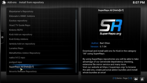 Add FilmOn to Kodi SuperRepo