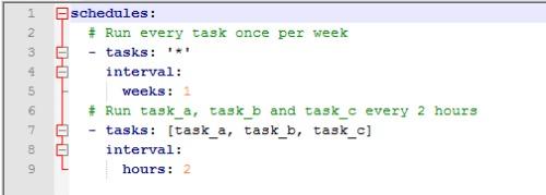 FlexGet Daemon Schedule config file