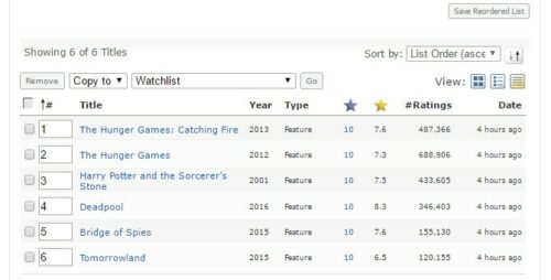 FlexGet IMDb Watchlist example