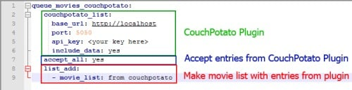 FlexGet vs CouchPotato configuration