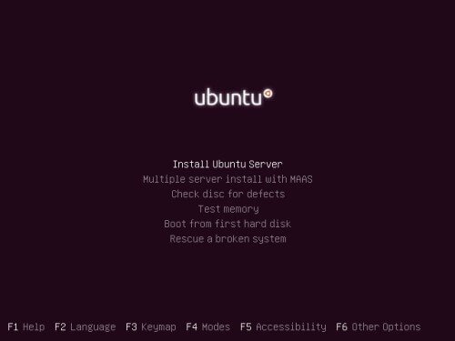 Setup Ubuntu Server Xenial Xerus - Start