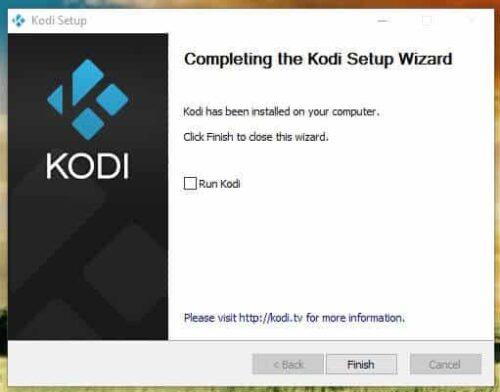 Kodi Windows download success