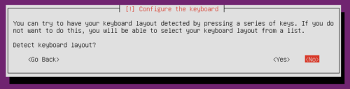 Setup Ubuntu Home Server - Detect Keyboard