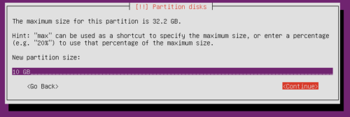 Ubuntu Partition Size for Root Partition