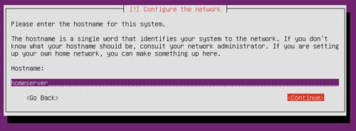 Install Ubuntu Server NAS - Hostname