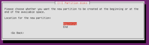 Ubuntu Hard Disk Partition Location Beginning or End