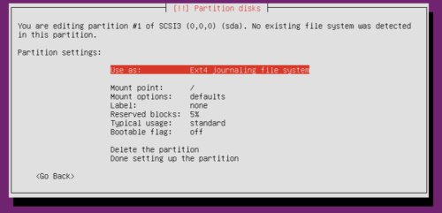 Ubuntu Hard Drive Partition - Before Setup