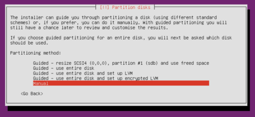 Ubuntu Server Partitioning