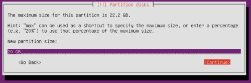 Ubuntu Server Partition Size - Home Partition Size