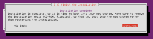 Install Ubuntu Home Server - Installation Complete
