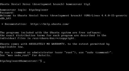 Install Ubuntu Home Server - Headless