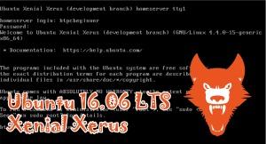 Install Ubuntu 16.04 Home Server