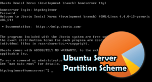 Ubuntu Server partition scheme