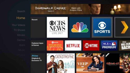Amazon Fire TV Homescreen