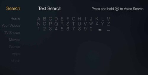 Fire TV - Text Search ES File Explorer