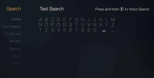 Fire TV - Text Search ES File Explorer