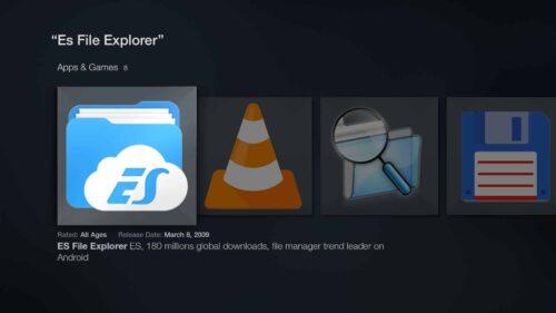 ES File Explorer on Amazon App Store
