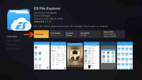 Download and Install ES File Explorer on Amazon Fire TV