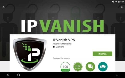 VPN  Ip Vanish Help