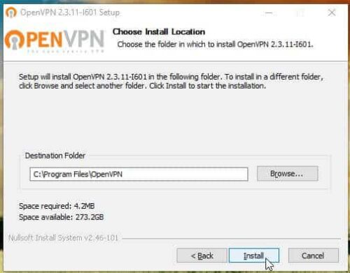 OpenVPN Windows Client install