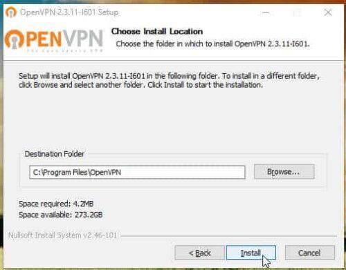 OpenVPN Windows Client install
