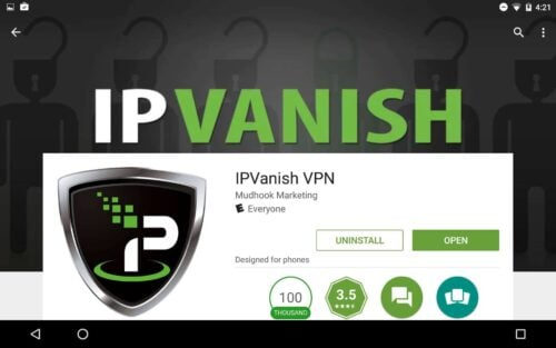 IPVanish on Android open