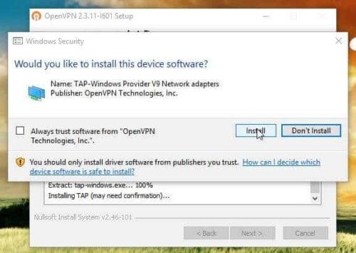 OpenVPN Client Download installation