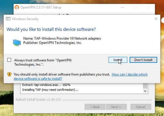 Guide: How to install OpenVPN on Windows HTPC