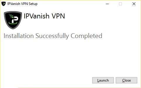 Windows IPVanish Client success