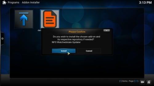 Kodi NFO Plugin install