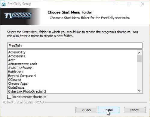 Add Freetelly To Windows Install