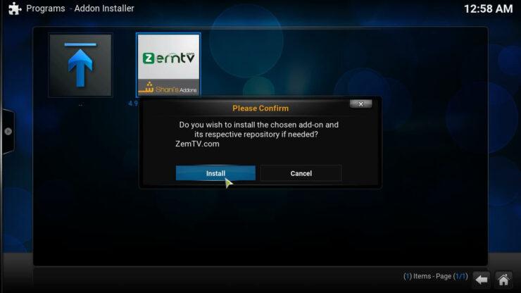 ZemTV Sports Kodi install