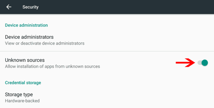 Enable Installing Apps From Unknown Sources