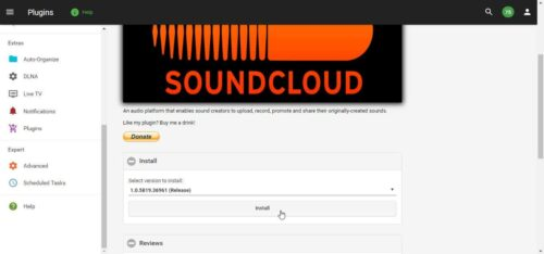 Add SoundCloud to Emby install