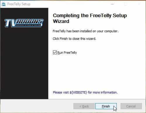 Get Freetelly On Windows Finish