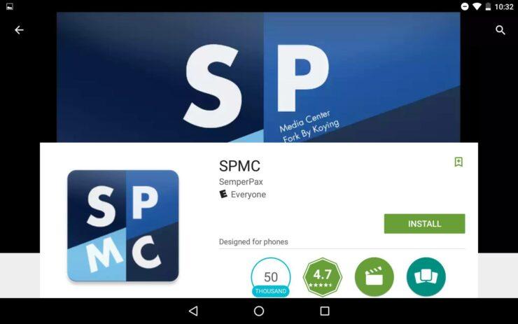SPMC Kodi Android Fork install
