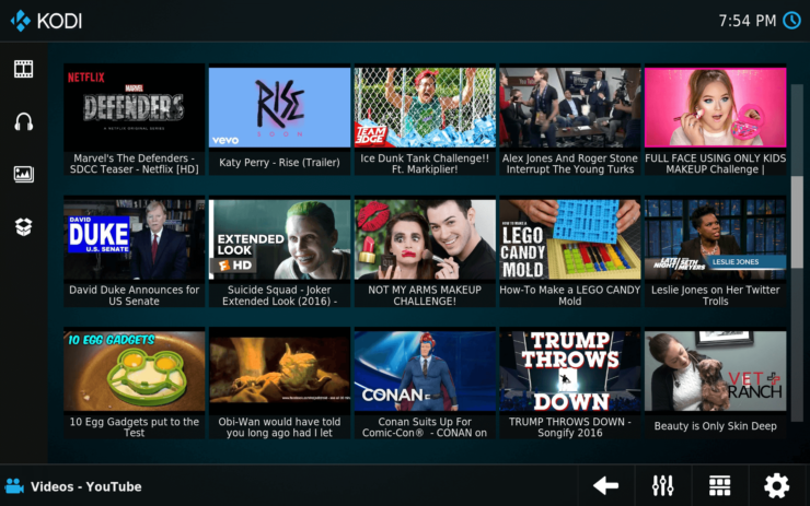 Kodi Estouchy Interface thumbnails